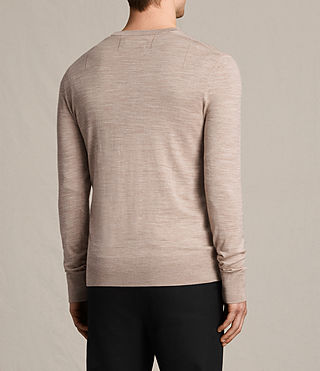 Hombre Mode Merino Crew Sweater (OAT PINK MARL) - product_image_alt_text_4