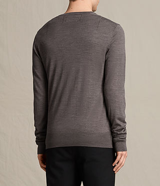 Hombres Mode Merino Crew Jumper (COAL GREY MARL) - product_image_alt_text_4