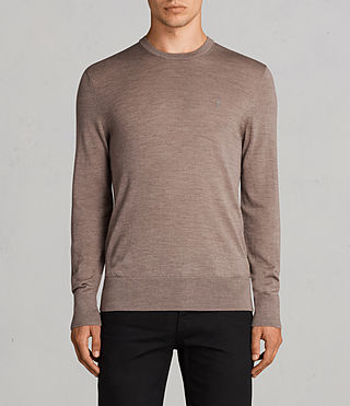 Mens Mode Merino Crew Sweater (TAWNY BROWN MARL) - product_image_alt_text_1