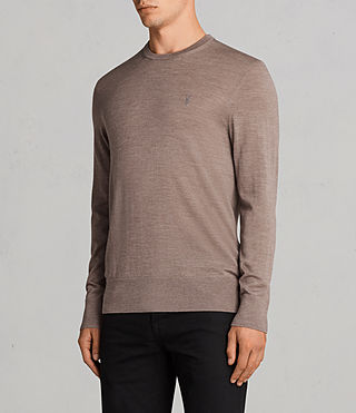 Mens Mode Merino Crew Sweater (TAWNY BROWN MARL) - product_image_alt_text_3