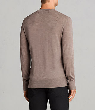 Men's Mode Merino Crew Jumper (TAWNY BROWN MARL) - Image 4