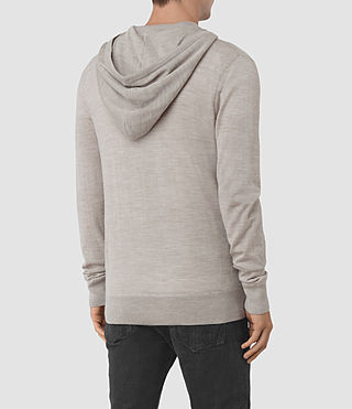 Hommes Mode Merino Zip Hoody (Smoke Grey Marl) - product_image_alt_text_4
