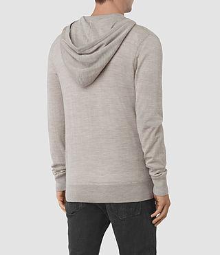 Hommes Mode Merino Zip Hoody (Smoke Grey Marl) - product_image_alt_text_4