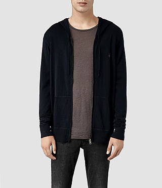 Hombre Mode Merino Zip Hoody (Ink) - product_image_alt_text_1