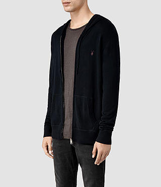 Hombre Mode Merino Zip Hoody (Ink) - product_image_alt_text_2