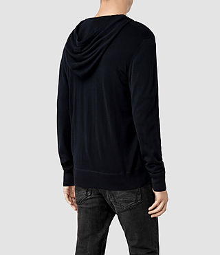 Hombre Mode Merino Zip Hoody (Ink) - product_image_alt_text_3