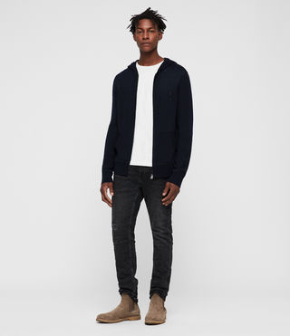 Men's Mode Merino Zip Hoody (INK NAVY) - Image 3