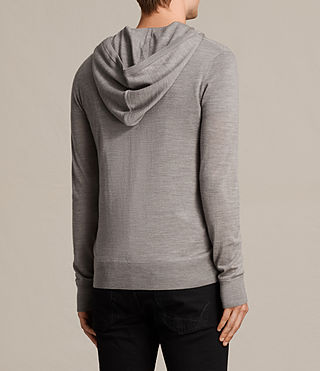Hommes Mode Merino Zip Hoody (PUTTY GREY MARL) - product_image_alt_text_4