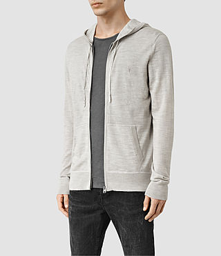Hombres Jersey con capucha Mode Merino (LIGHTGREYMARL) - product_image_alt_text_2