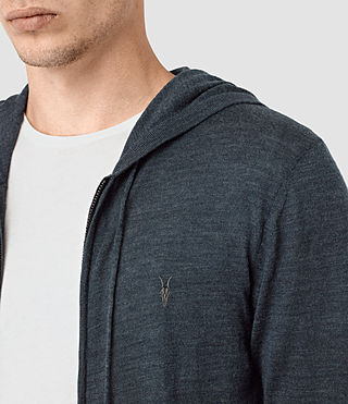 Mens Mode Merino Zip Hoody (WORKERS BLUE MARL) - product_image_alt_text_2