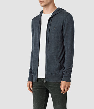 Mens Mode Merino Zip Hoody (WORKERS BLUE MARL) - product_image_alt_text_3