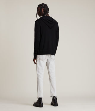 Hommes Sweat à capuche Mode Merino (Black) - product_image_alt_text_4