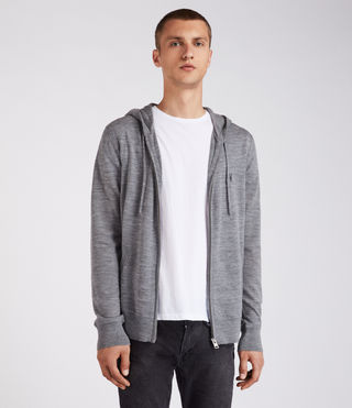 Hombre Mode Merino Zip Hoody (HEATH GREY MARL) - Image 1