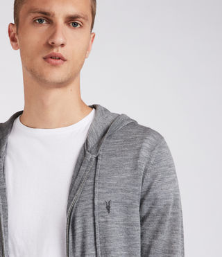 Hombre Mode Merino Zip Hoody (HEATH GREY MARL) - Image 2