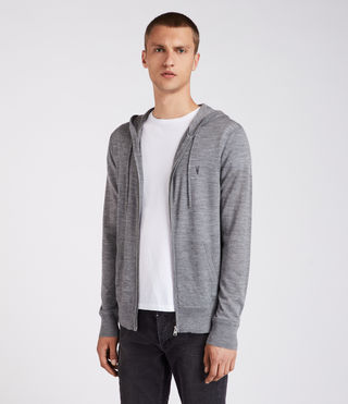 Hombre Mode Merino Zip Hoody (HEATH GREY MARL) - Image 3