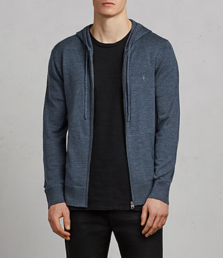 Men's Mode Merino Zip Hoody (WASHED NAVY MARL) - Image 1