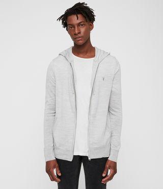 Men's Mode Merino Zip Hoody (Light Grey Marl) - product_image_alt_text_3
