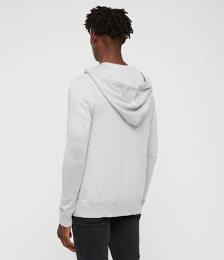 Men's Mode Merino Zip Hoody (Light Grey Marl) - Image 4