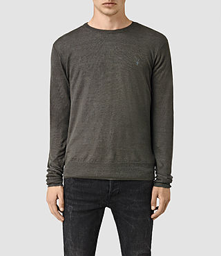 Men's Opus Crew Jumper (Charcoal) -