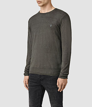 Men's Opus Crew Jumper (Charcoal) - product_image_alt_text_3