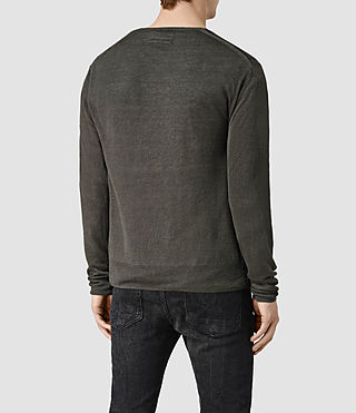 Mens Opus Crew Sweater (Charcoal) - product_image_alt_text_4