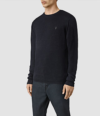 Hombres Opus Crew Jumper (INK NAVY) - product_image_alt_text_3