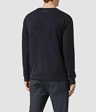 Hombres Opus Crew Jumper (INK NAVY) - product_image_alt_text_4