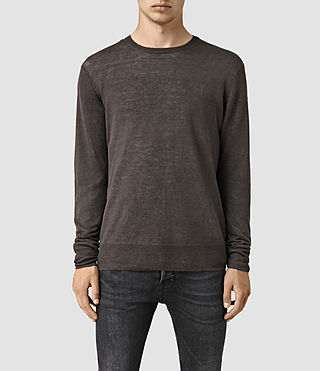 Hommes Opus Crew Jumper (Khaki Brown)