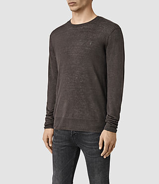 Hombres Opus Crew Jumper (Khaki Brown) - product_image_alt_text_3