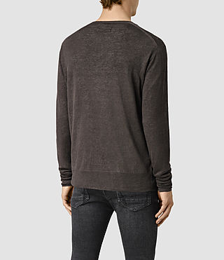 Hombres Opus Crew Jumper (Khaki Brown) - product_image_alt_text_4