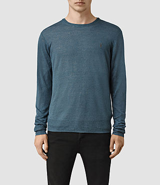Mens Opus Crew Sweater (Engine Blue) - product_image_alt_text_1