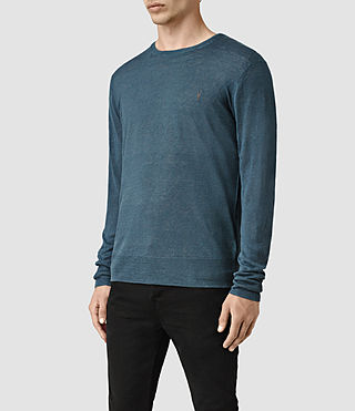 Mens Opus Crew Sweater (Engine Blue) - product_image_alt_text_3