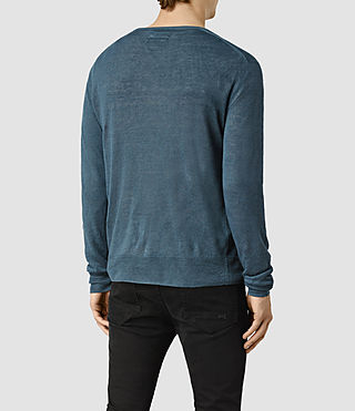 Men's Opus Crew Jumper (Engine Blue) - product_image_alt_text_4