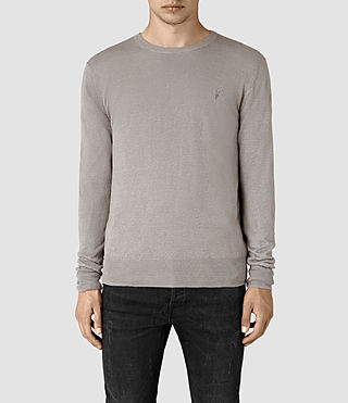 Mens Opus Crew Sweater (Steeple Grey) - product_image_alt_text_1