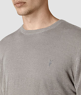 Mens Opus Crew Sweater (Steeple Grey) - product_image_alt_text_2