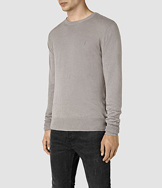 Mens Opus Crew Sweater (Steeple Grey) - product_image_alt_text_3