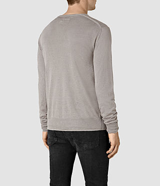 Mens Opus Crew Sweater (Steeple Grey) - product_image_alt_text_4