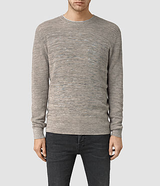 Mens Kamburn Crew Sweater (Taupe Marl)