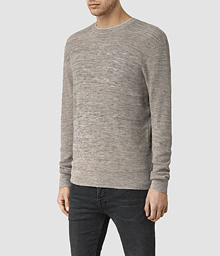 Mens Kamburn Crew Sweater (Taupe Marl) - product_image_alt_text_2