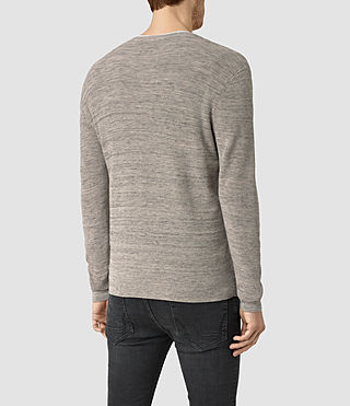 Mens Kamburn Crew Sweater (Taupe Marl) - product_image_alt_text_3