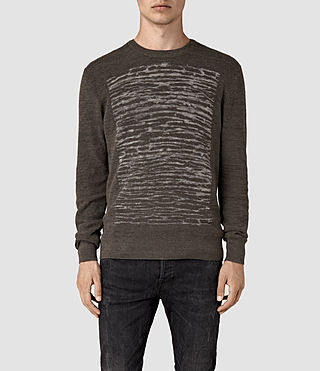 Men's Kamburn Crew Jumper (Khaki Green)