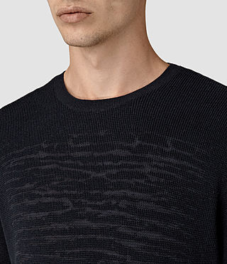 Hombres Kamburn Crew Jumper (INK NAVY) - product_image_alt_text_2