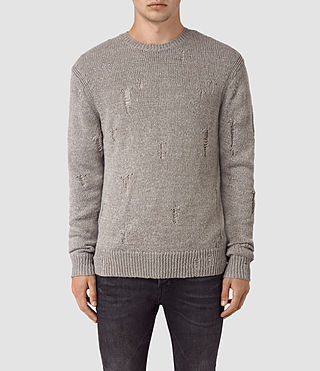 Mens Aktarr Crew Sweater (Taupe Marl) - product_image_alt_text_1