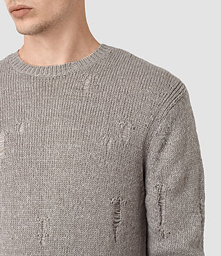 Mens Aktarr Crew Sweater (Taupe Marl) - product_image_alt_text_2