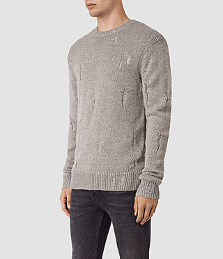 Men's Aktarr Crew Jumper (Taupe Marl) - product_image_alt_text_3