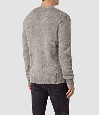 Men's Aktarr Crew Jumper (Taupe Marl) - product_image_alt_text_4