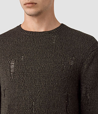 Hommes Aktarr Crew Jumper (Khaki Brown) - product_image_alt_text_2