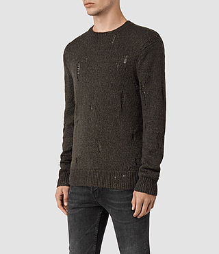 Hommes Aktarr Crew Jumper (Khaki Brown) - product_image_alt_text_3