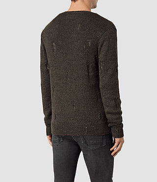 Hommes Aktarr Crew Jumper (Khaki Brown) - product_image_alt_text_4