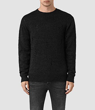Mens Aktarr Crew Sweater (Black) - product_image_alt_text_1